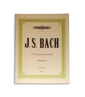 Livro Edition Peters P7156B Bach Invenções 3 Vozes