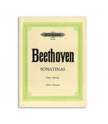 Livro Edition Peters EP1231 Beethoven 6 Sonatinas