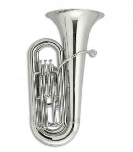 Tuba Compacta John Packer JP078S Si Bemol Prateada com Estojo