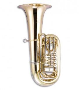 Tuba John Packer JP379BB Sterling Si Bemol Dourada com Estojo