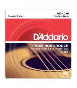 Jogo de Cordas Daddário EJ17 para Guitarra Acústica