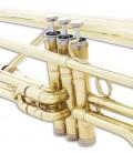 Trombone de Pistões John Packer JP135 Si Bemol Dourado com Estojo