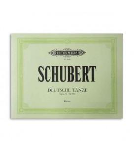 Livro Edition Peters EP5600 Schubert Opus 33 Danças Alemãs