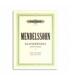 Livro Edition Peters P1704A Mendelssohn Piano Works Volume 1