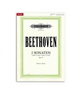Livro Edition Peters EP4019 Beethoven Sonatas Sol menor Sol Maior Opus 49 e 20