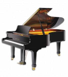 Piano Cauda Pearl River GP212 PE Semi-Concert 212cm Preto Polido