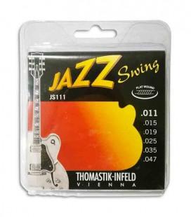 Jogo de Cordas Thomastik 011 Jazz Swing Guitarra El辿trica JS 111