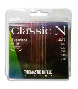 Jogo de Cordas Thomastik Classic N Flatwound CF128 para Guitarra Clássica