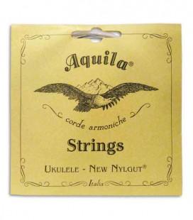 Foto frontal da Embalagem do Jogo de Cordas Aquila 21U para Ukulele Barítono