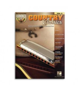Livro Music Sales HL00001004 Harmonica Play Along Vol.5 Country Classics