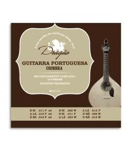 Jogo de Cordas Dragão 004 para Guitarra Portuguesa 12 Cordas Afinação de Coimbra