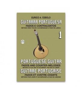 Livro Eurico Cebolo GP1 Método de Guitarra Portuguesa 1 com CD
