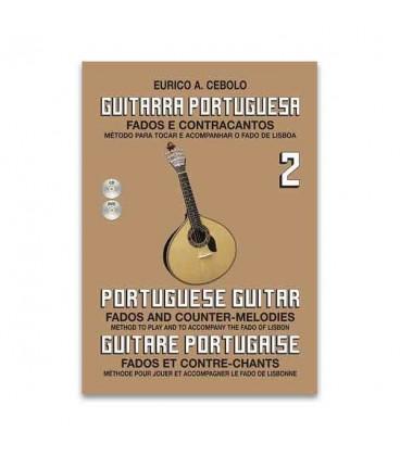 Livro Eurico Cebolo GP2 M辿todo Guitarra Portuguesa 2 com CD
