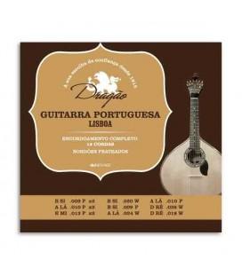 Embalagem do jogo de cordas Dragão 003 para guitarra portuguesa