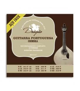 Jogo de Cordas Dragão 074 para Guitarra Portuguesa Afinação Coimbra Inox