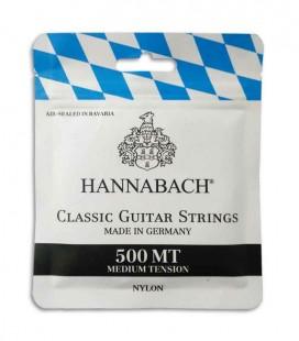 Jogo de Cordas Hannabach 500MT para Guitarra Clássica Média Tensão