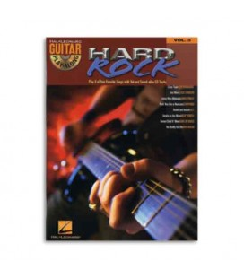 Livro Music Sales HL00699573 Guitar Play Along Hard Rock Volume 3 Book CD