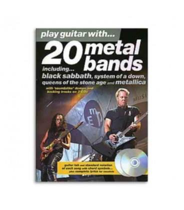 Play Guitar With 20 Metal Bands Book CD