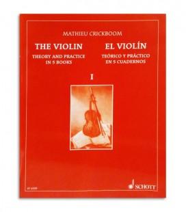 Livro Mathieu Crickboom para Violino Teórico e Prático Vol 1 SF6559