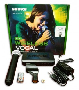 Microfone Shure Sistema sem Fios de M達o BLX24E PG58H8E
