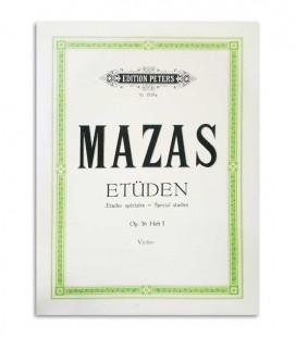 Livro Peters Mazas para Violino Opus 36  Vol 1 EP1819a