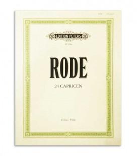 Livro Peters Rode 24 Caprichos para Violino EP281a