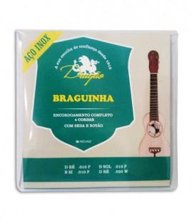 Jogo de Cordas Dragão 090 para Braguinha Inox