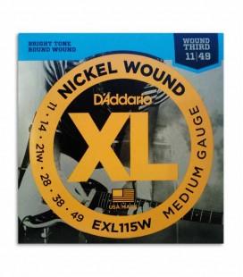 Jogo de Cordas Daddário EXL115W 011 049 para Guitarra Elétrica
