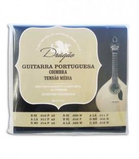 Jogo de Cordas Drag達o 005 Guitarra Portuguesa Afina巽達o Coimbra Tens達o M辿dia