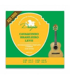 Jogo de Cordas Dragão 083 para Cavaquinho Brasileiro Leve Aço Inox