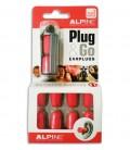 Foto da embalagem com o protector Alpine para ouvidos Party Plug