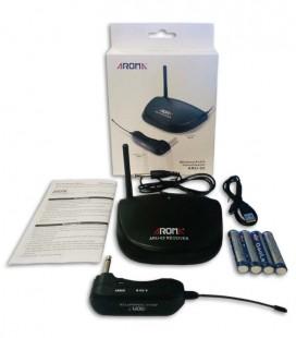 Sistema sem Fios Aroma ARU02 Ligação Guitarra ou Baixo a Amplificador UHF