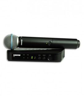 Sistema Microfone Emissor Receptor Completo Shure BLX24E B58 H8E