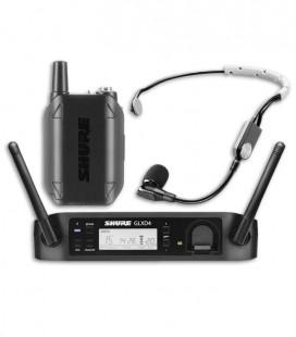 Microfone Shure Sistema sem Fios Headset GLXD14E SM35 Z2
