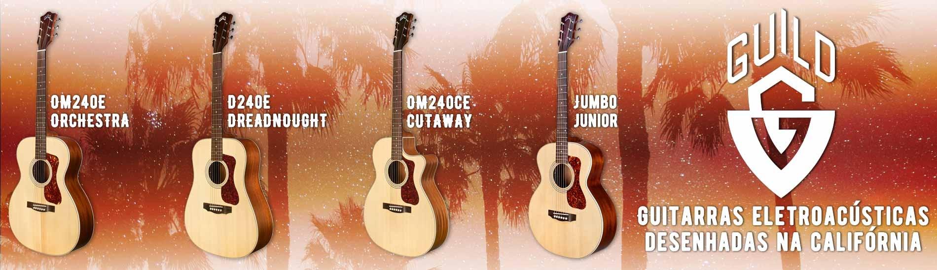 Guitarras Eletroacústicas Guild - Desenhadas na California!