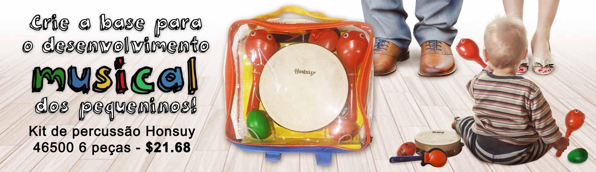 Kit de Percussão Honsuy 46500 6 Peças - Crie a base para o desenvolvimento musical dos pequeninos!