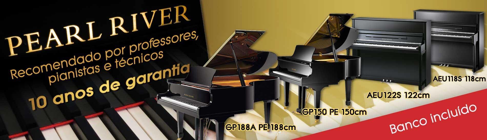 Pianos Pearl River - Recomendado por professores, pianistas e técnicos!